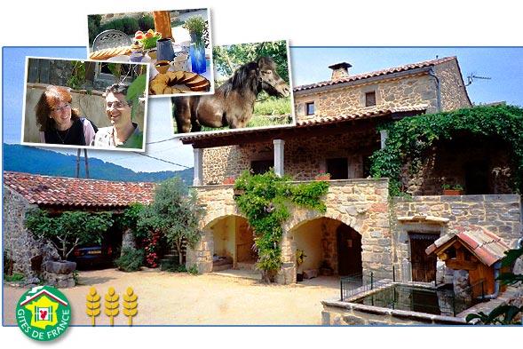 guest house and guest table - la ferme d'antan - ardeche